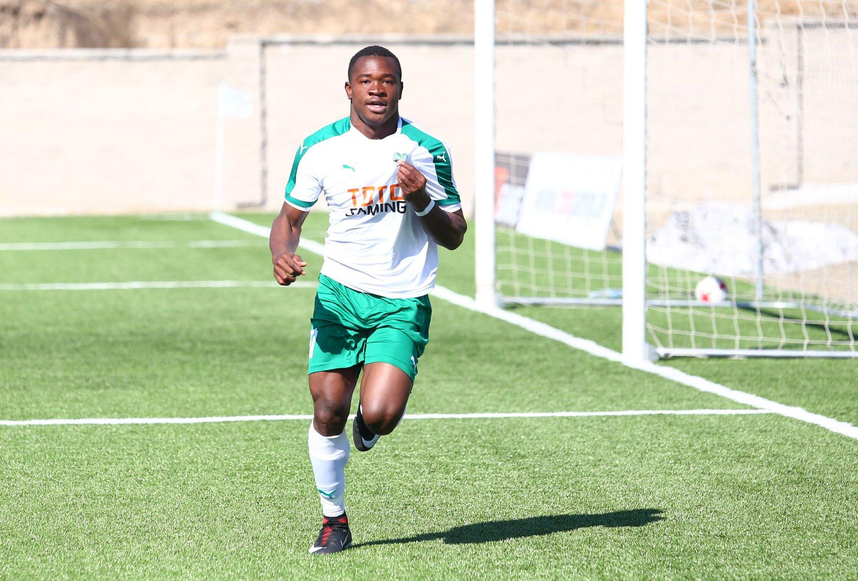 L'attaquant haïtien, Jonel Désiré, a inscrit un quintuplé contre Yerevan dimanche 1er décembre. Photo: FC Lori