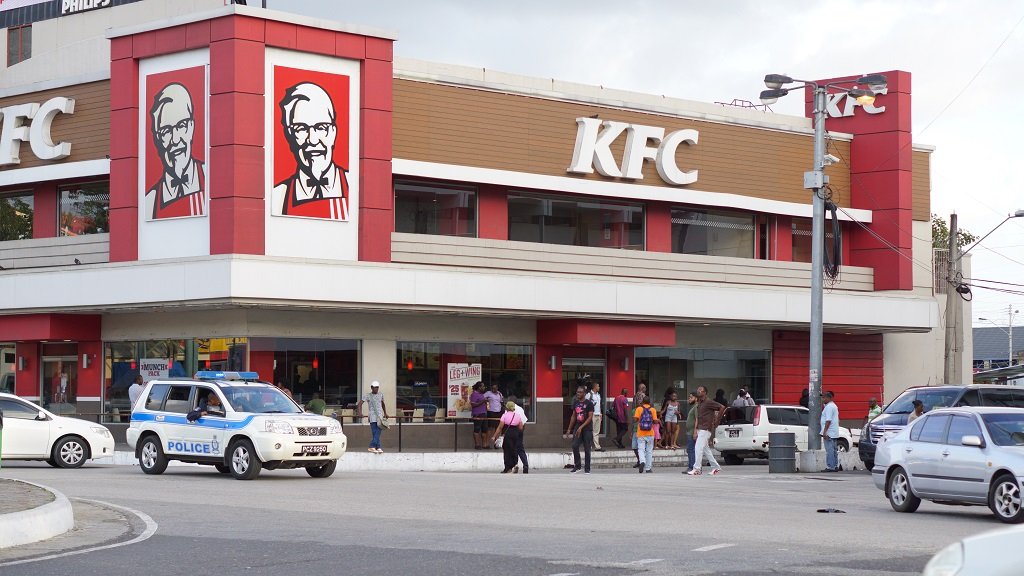 Photo: KFC, Independence Square, Port of Spain, taken in March 2017. Photo courtesy Alina Doodnath.