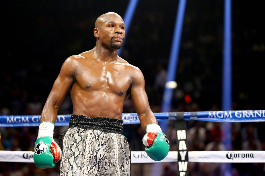 Sur cette photo le boxeur Floyd Mayweather, surnommé «Money». Photo : AFP
