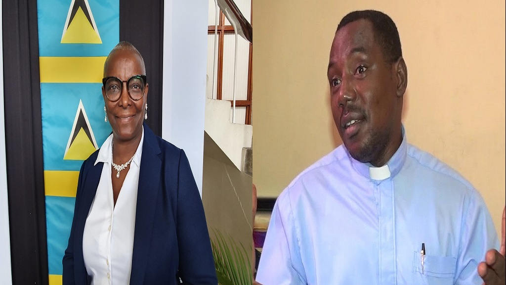 Senator Fortuna Belrose (Left), Reverend Seth Ampadu (Right)