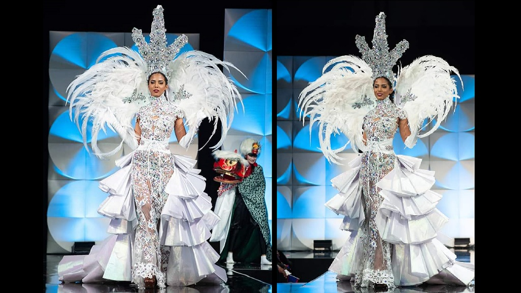 Miss Jamaica Universe 2019, Iana Tickle Garcia in her national costume. (Photo courtesy of Miss Jamaica Universe.)