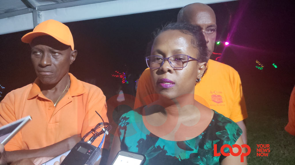 MP Dr Sonia Browne speaking to the media