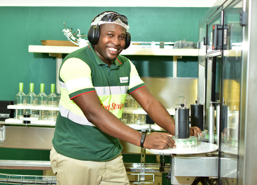 Tyrone Laing, Red Stripe's spirits plant operator. He was challenged to come up with a new innovation, which led to the creation of D&G Sorrel Rum.