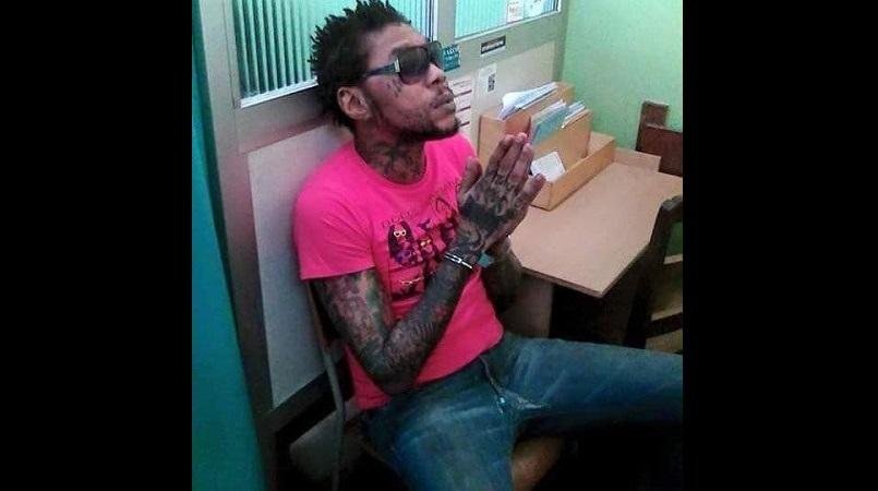 File photo of Vybz Kartel on a medical visit outside of the confines of prison some time.