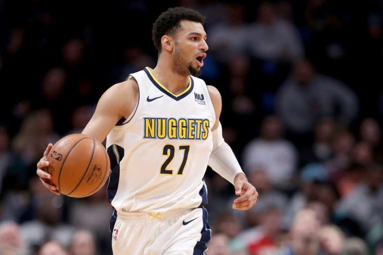 Jamal Murray lors d'un match avec Denver, le 16 janvier 2018 face à Dallas