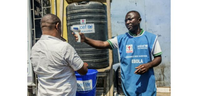 Mesures de prévention contre le virus Ebola à Goma, en République démocratique du Congo, le 15 juillet 2019 ((c) Afp)