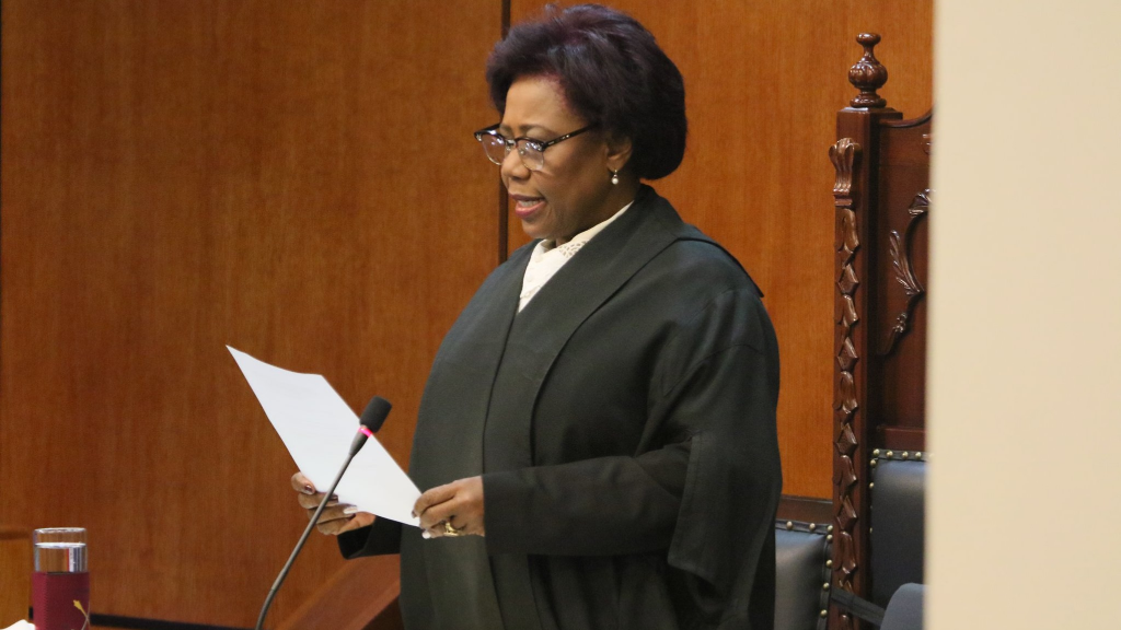 Speaker of the House Bridgid Annisette-George, MP, making an announcement during a sitting of Parliament on December 16, 2019.
