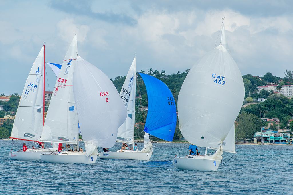 Mike Farrington, former JAMIN Champion and past Commodore of the Cayman Islands Sailing Club hailed the sailing conditions in Montego Bay.