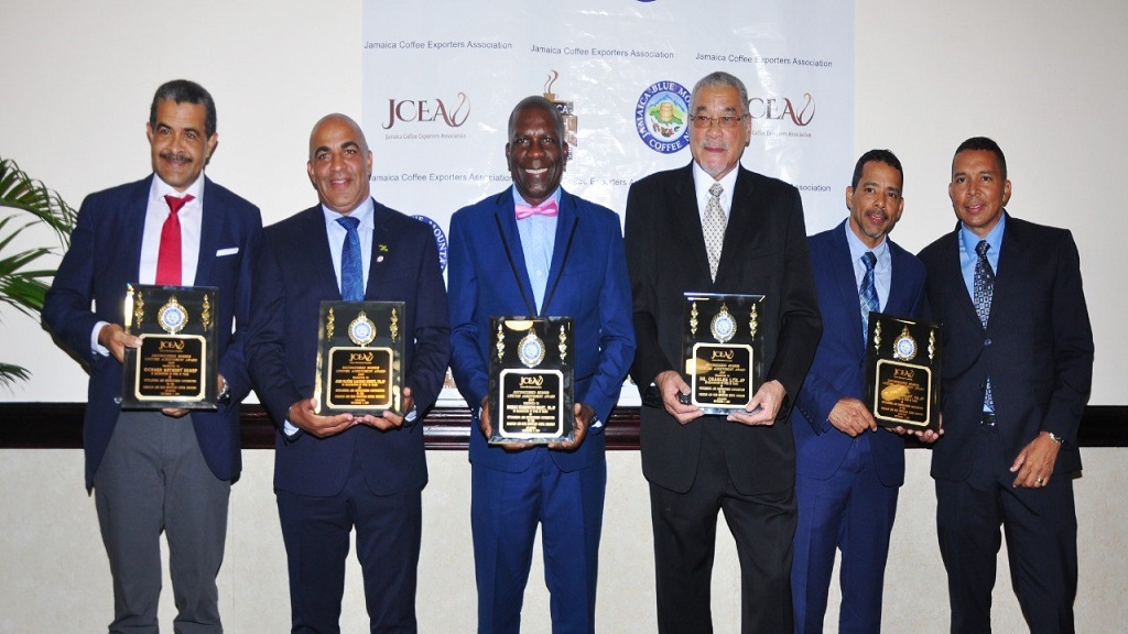 Richard Anthony Sharp, John Oliver (Jackie) Minott, Norman Washington Grant, Dr Charles Lyn and St Clair Shirley received the Distinguished Member Lifetime Achievement Award at the JCEA's inaugural awards banquet.