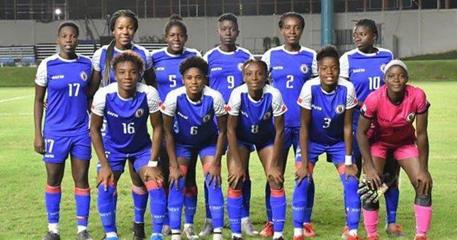 La sélection féminine haïtienne de football. Photo : Foot au Féminin