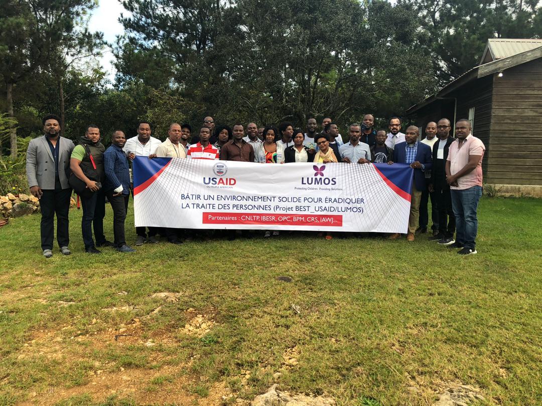Une vingtaine de journalistes haïtiens ont reçu une formation sur la traite des personnes du 02 au 04 novembre 2019. Crédit photo: Patrick Camille/Lumos