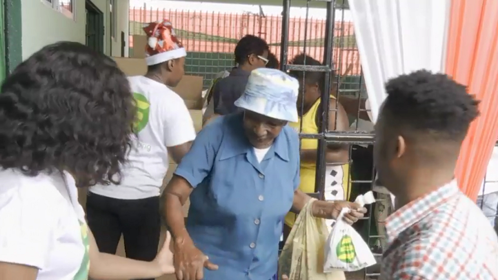 Over 5,000 senior citizens were treated to various food and personal-care items last Friday.