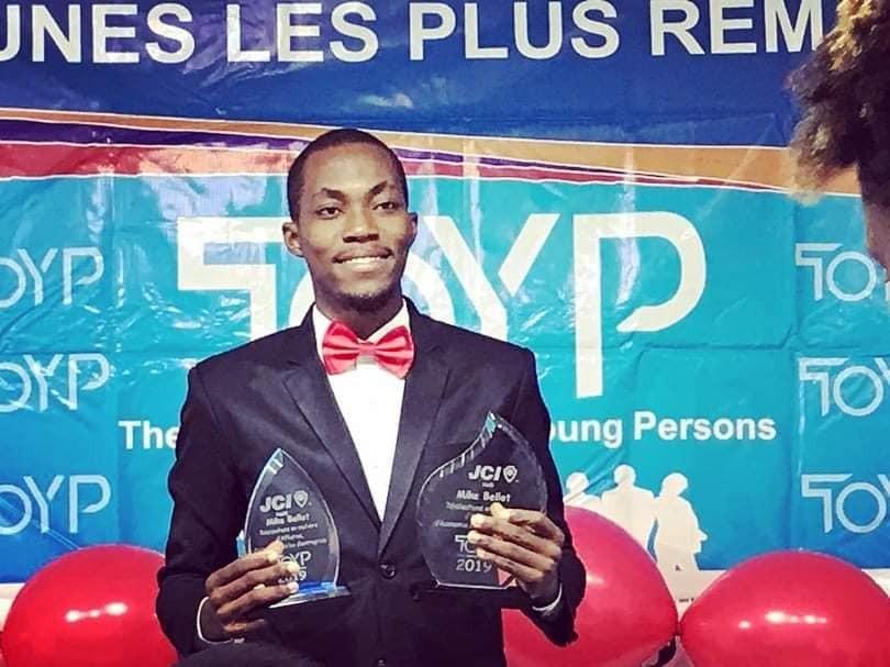 Le jeune entrepreneur et fondateur de Solo Bag, Mike Bellot Crédit Photo : Page Facebook JCI