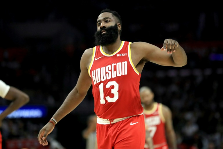 James Harden des Houston Rockets face aux Los Angeles Clippers au Staples Center, le 22 novembre 2019