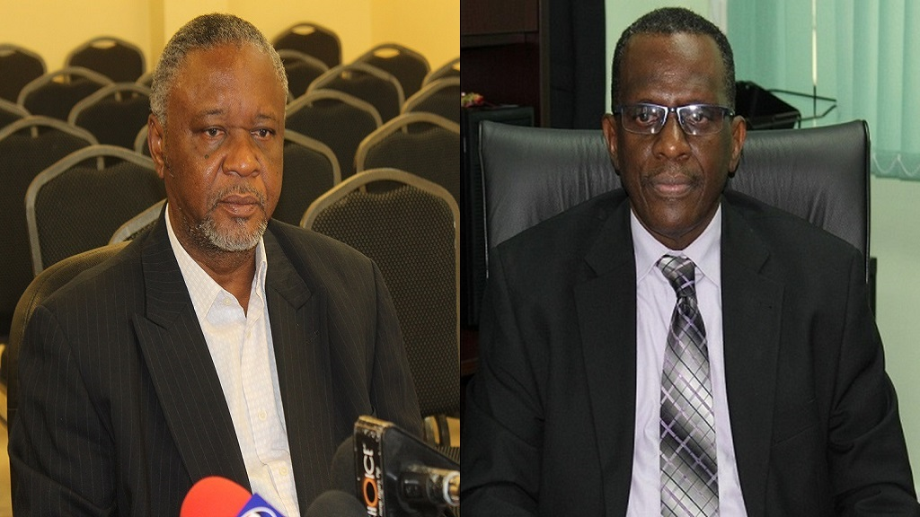 National Security Minister Senator Hermangild Francis (left) and Opposition Leader Philip J Pierre