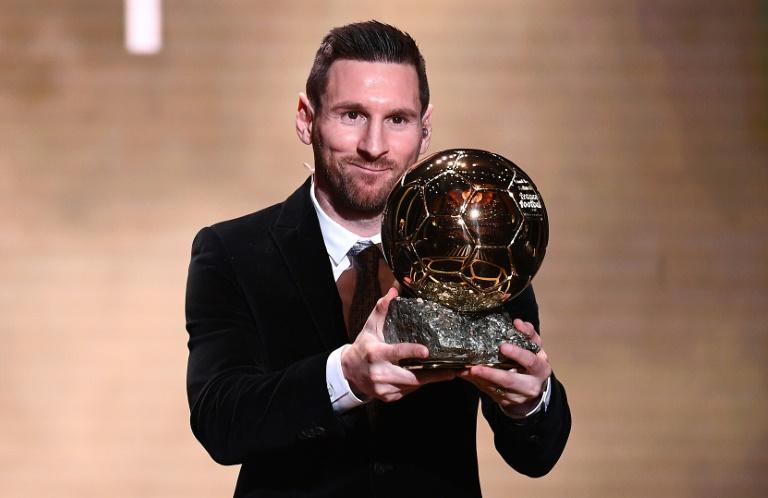 Lionel Messi sacré Ballon d'Or, pour la sixième fois, le 2 décembre 2019 à Paris