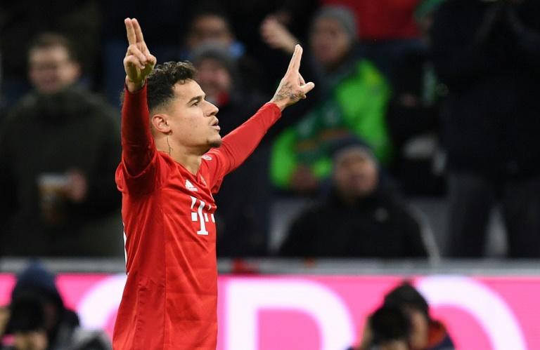Le milieu brésilien du Bayern Philippe Coutinho auteur d'un triplé contre le Werder Brême, le 14 décembre 2019 à Munich