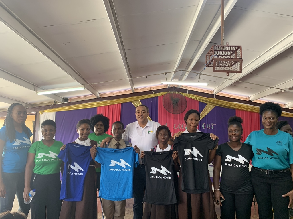 Central High is one 100 schools to have a 'Jamaica Moves in Schools Club'.