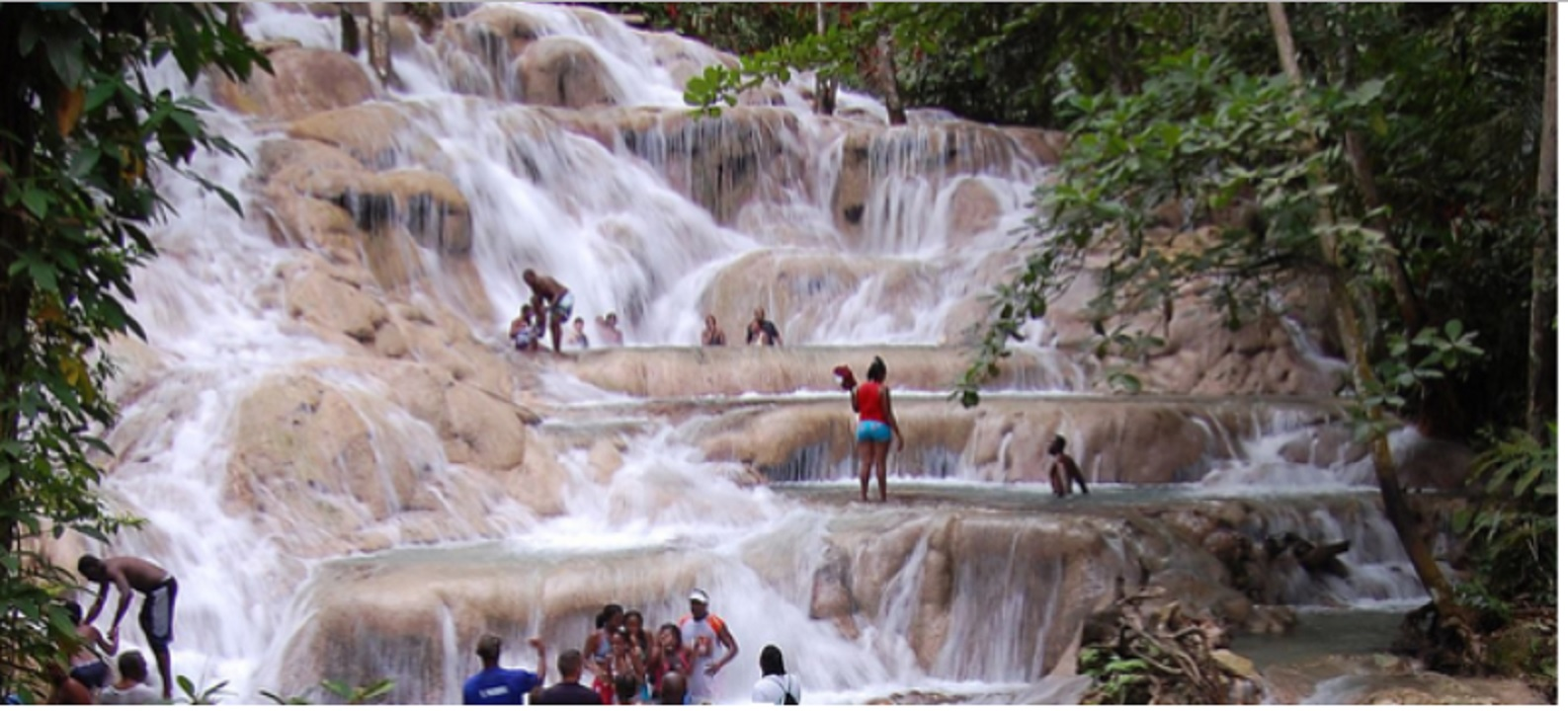Dunn's River is one of the popular tourist spots in Jamaica.