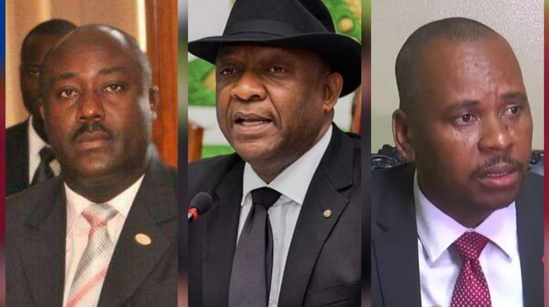 De gauche à droite, les sénateurs Evallière Beauplan, Youri Latortue et Nenel Cassy. Collage: Loop Haïti.