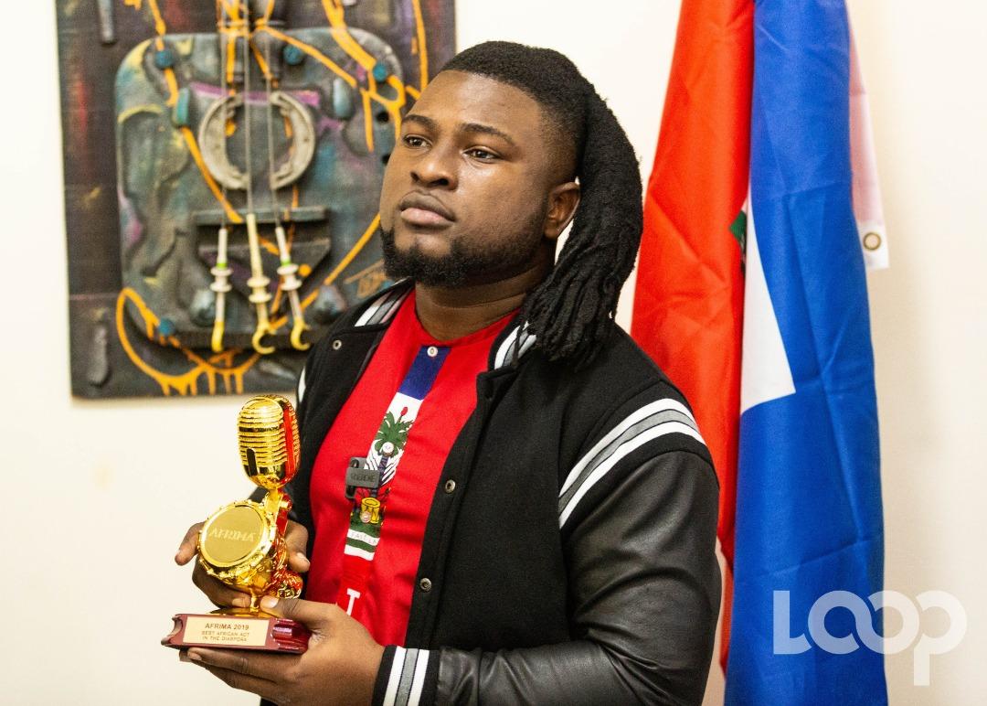 """Emmanuel Pierre (Manno Beats) récent récipiendaires de deux prix au """"All Africa Music Awards"""" au Nigéria  Crédit photo: Luckenson Jean"""