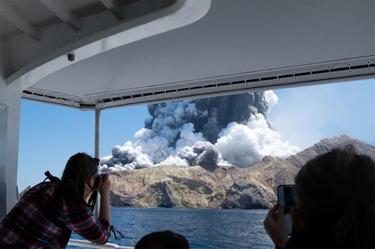 Eruption du volcan de White Island, le 9 décembre 2019 en Nouvelle-Zélande