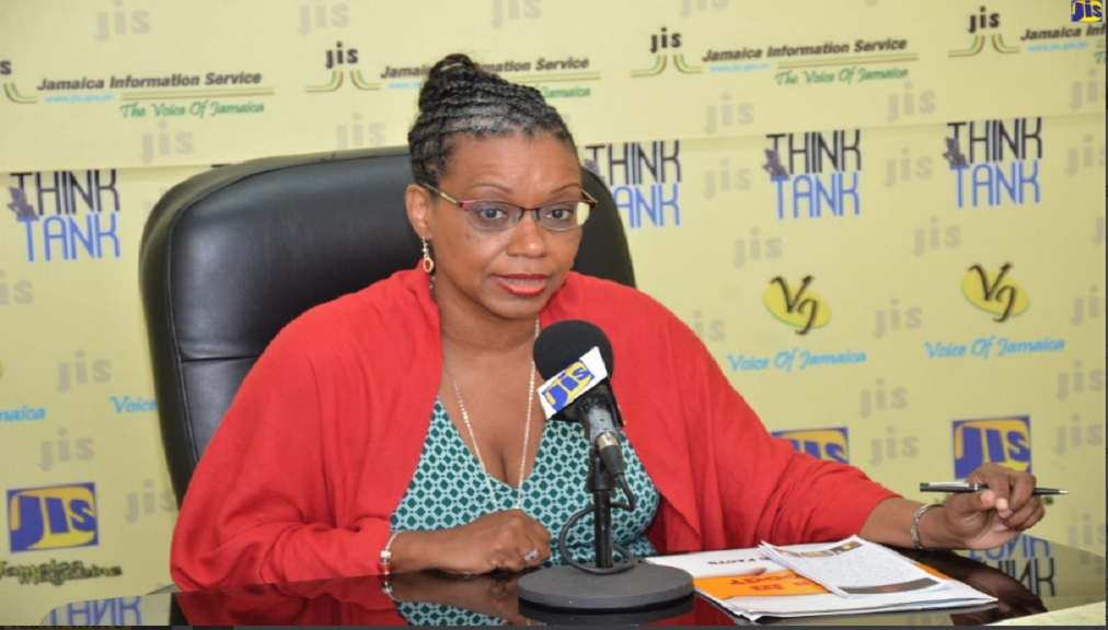 Photo: Attorney-at-Law and Policy Advisor for Healthy Caribbean Coalition (HCC), Nicole Foster, addresses a recent JIS Think Tank on Front-of-Package Labelling.