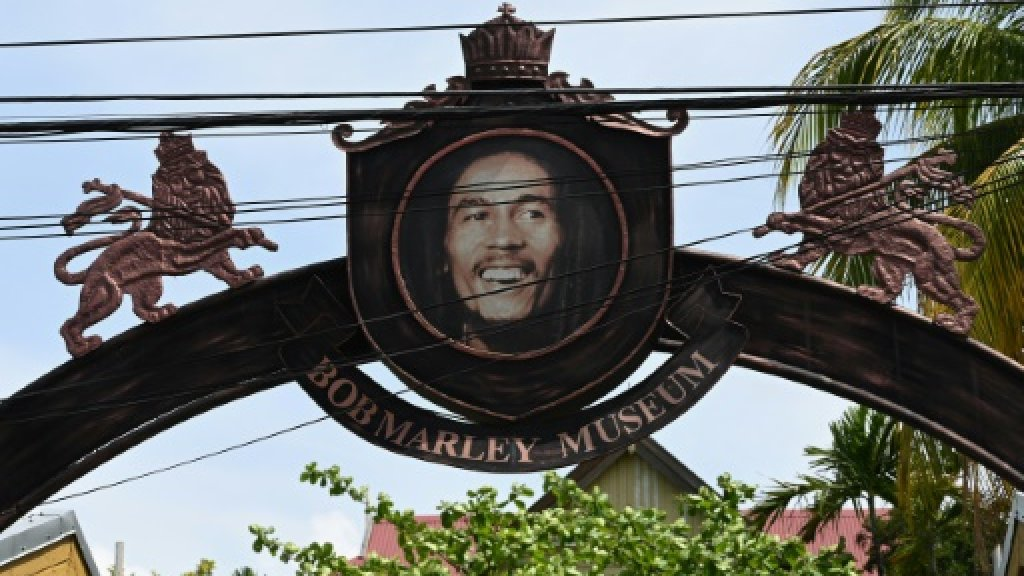 A frontal view of the  Bob Marley Museum entrance on Hope Road in St Andrew.