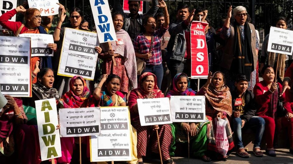 Colère après le viol et le meurtre d'une jeune femme. Photo : AFP