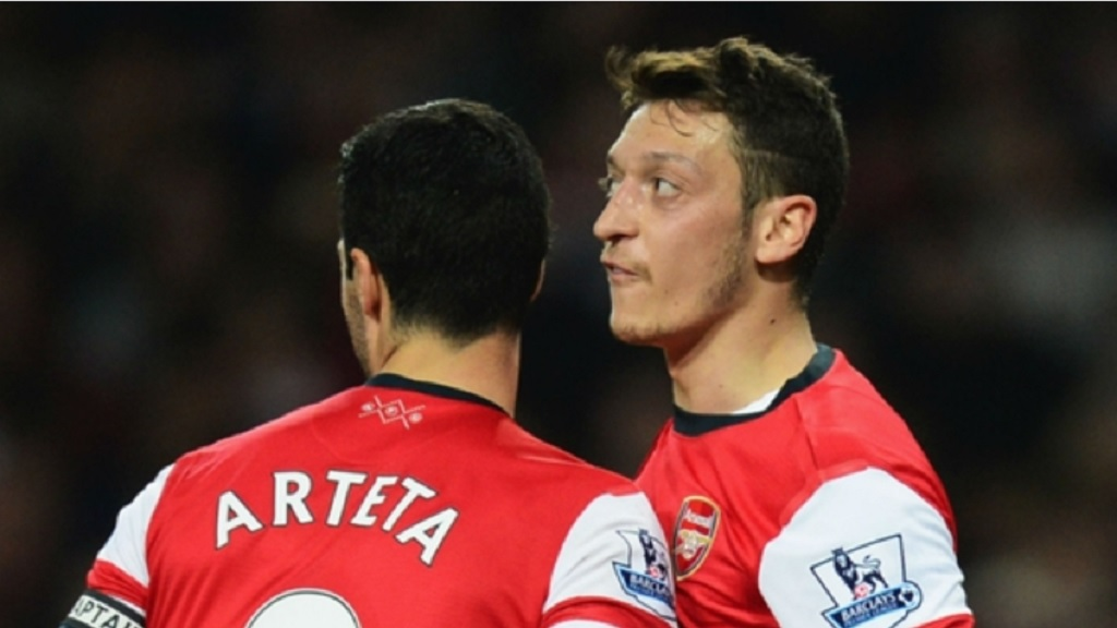 Mikel Arteta and Mesut Ozil played together at Arsenal.