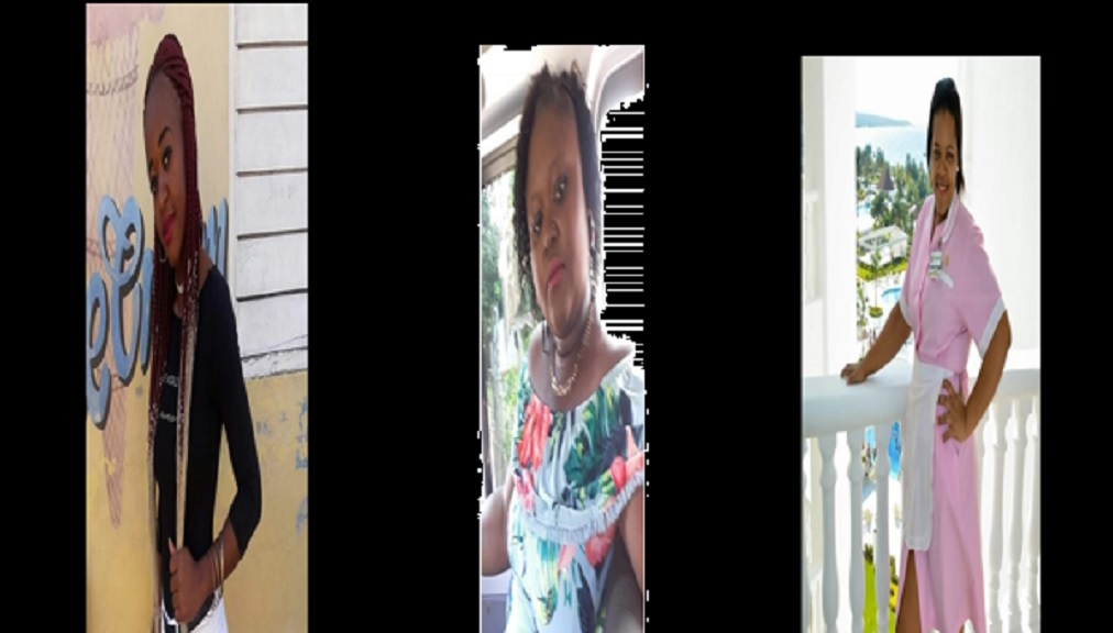 The victims of the fatal vcrash on the Queen's Highway in the Discovery Bay area of St Ann on Monday, left to right, are Neka Harris, sister Lekeshia Harris, and Wendy McKain, all from Steer Town in St Ann.