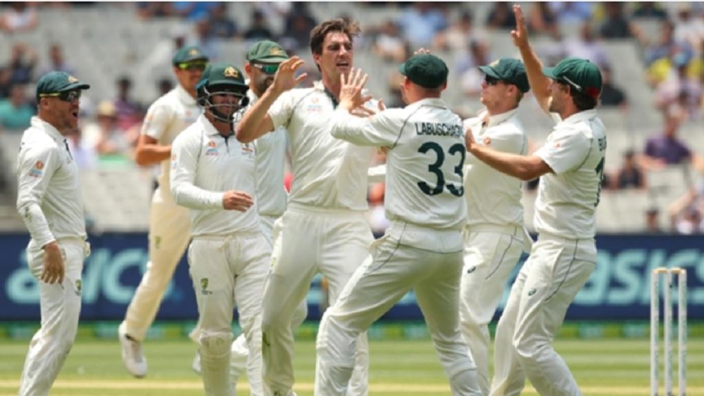 Australia players celebrate.