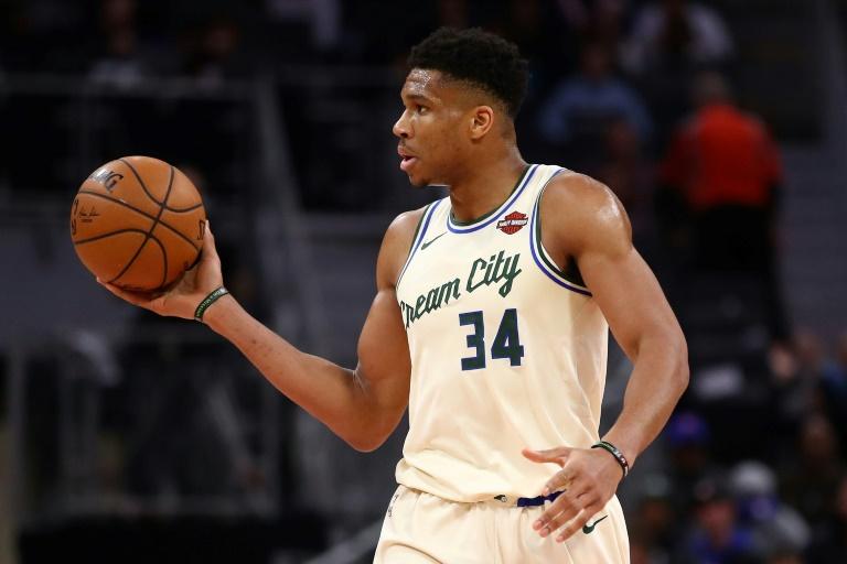 Giannis Antetokounmpo des Milwaukee Bucks face aux Detroit Pistons, en NBA, le 4 décembre 2019 à Detroit