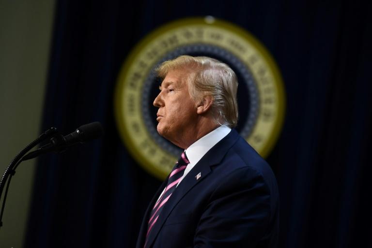 Le président américain Donald Trump à la Maison Blanche à Washington le 19 décembre 2019