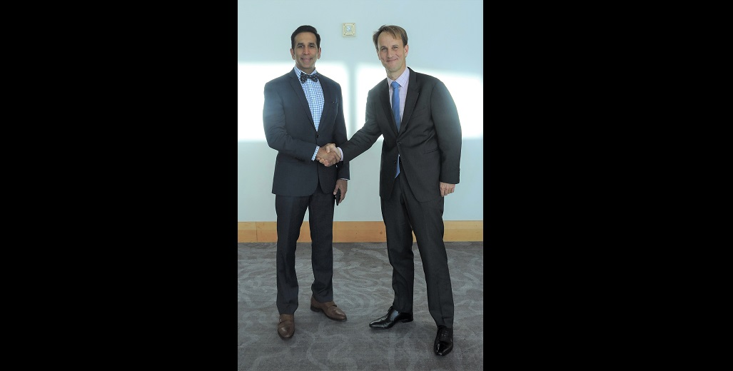 Attorney General and Minister of Legal Affairs Faris Al-Rawi;  Lead Financial Sector Specialist and Global Lead for Financial Market Integrity for the World Bank Emile Van Der Does De Willebois.