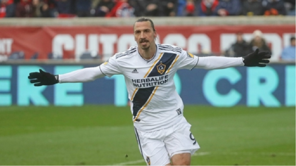 Former LA Galaxy striker Zlatan Ibrahimovic.