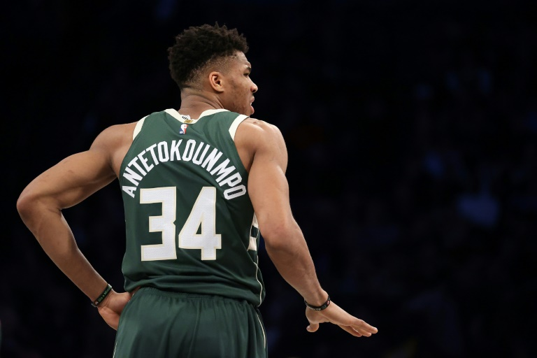 Giannis Antetokounmpo des Milwaukee Bucks face au Brooklyn Nets, en NBA, le 18 janvier 2020 à New York