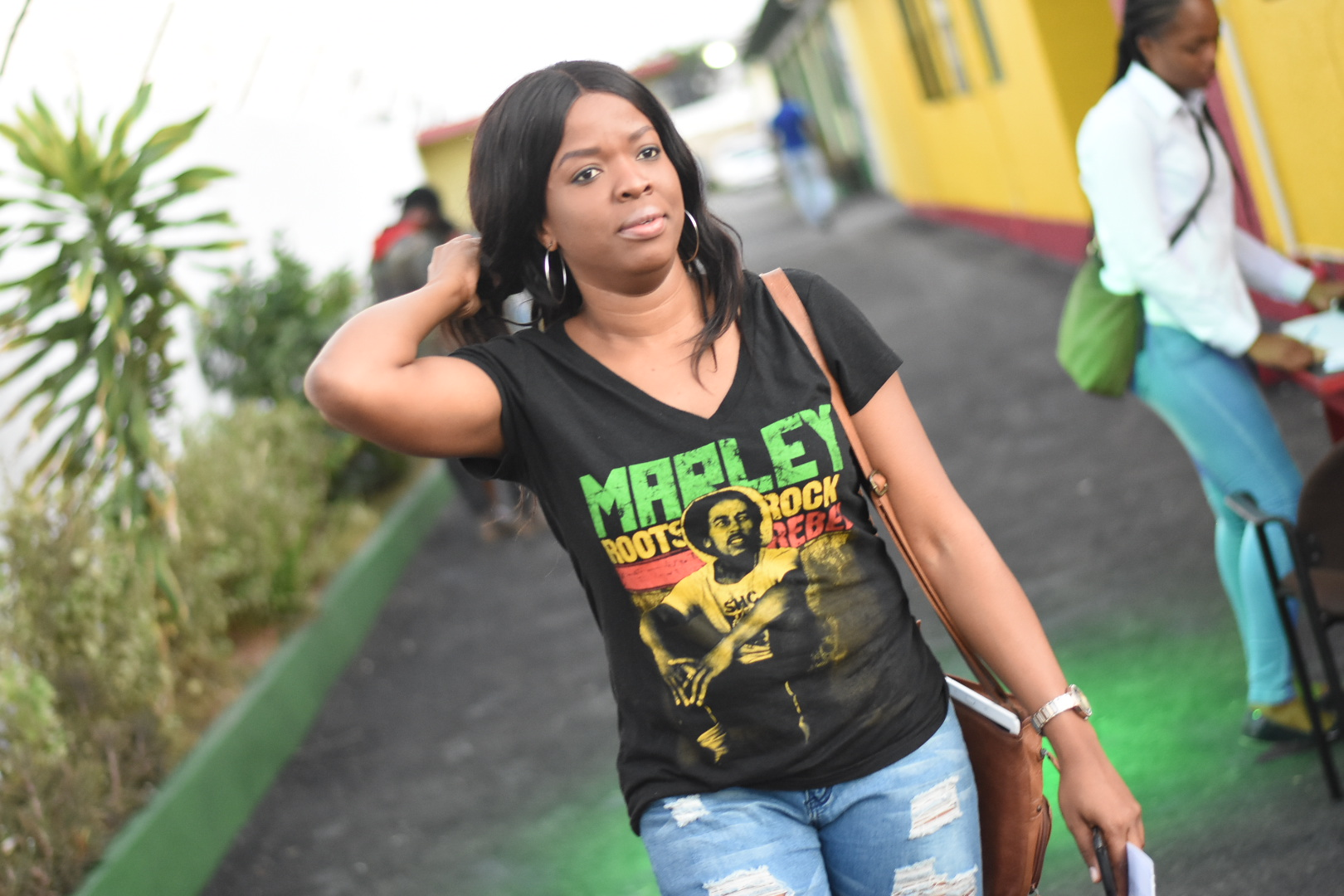 Carrying the message at Tuff Gong Studio in St Andrew. (Photos: Marlon Reid)