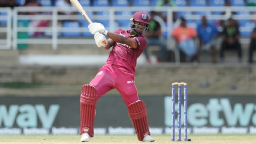 West Indies batsman Evin Lewis.
