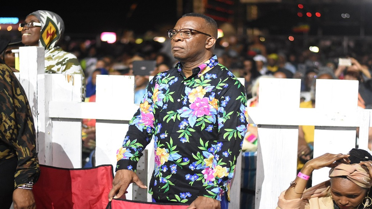"Barrington ""Barry G"" Gordon pays close attention to a stage performance at last weekend's Rebel Salute 2020 festival in St Ann. (Photo: Marlon Reid)"