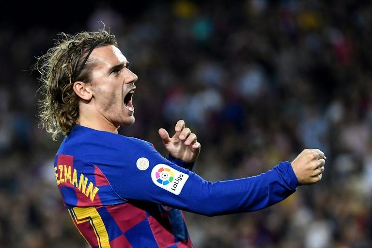 L'attaquant français Antoine Griezmann après un but pour le FC Barcelone face à Villarreal, le 24 septembre 2019 au Camp Nou