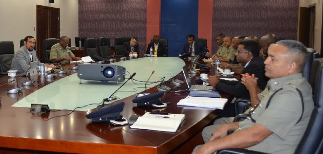 National Security Minister Stuart Young hosts a meeting with Heads of Law Enforcement and Security Agencies.