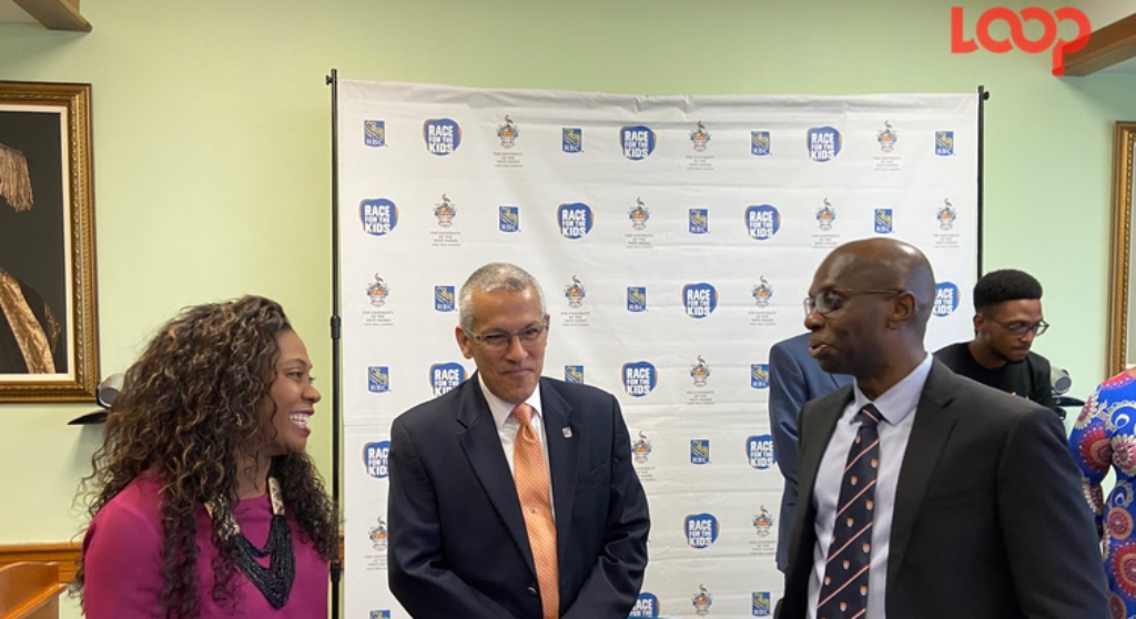 From Left: Dawn-Lisa Calendar, race coordinator; managing director of Royal Bank of Canada (Barbados), Robert de Silva and deputy principal of University of West Indies Cave Hill Campus, Professor Winston Moore.
