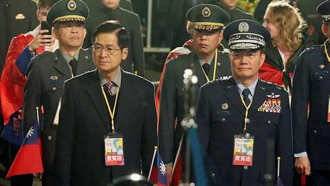 Shen Yi-ming, à droite, le 1er janvier 2020, à Taipei. (Photo d'illustration) | AFP