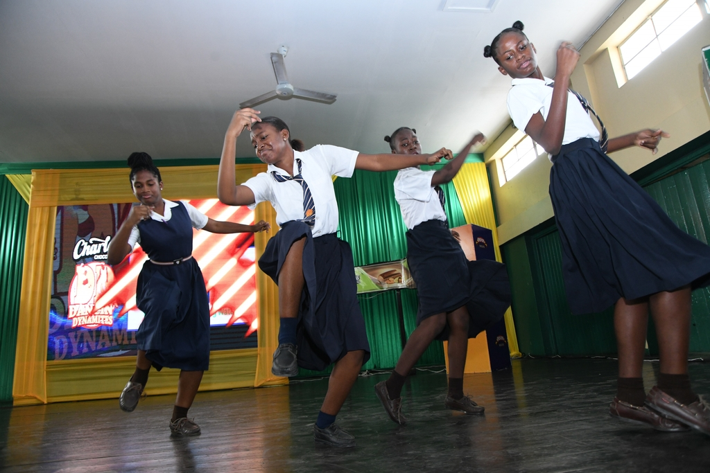 Students from Dunoon Technical High School lit up the Excelsior High School stage