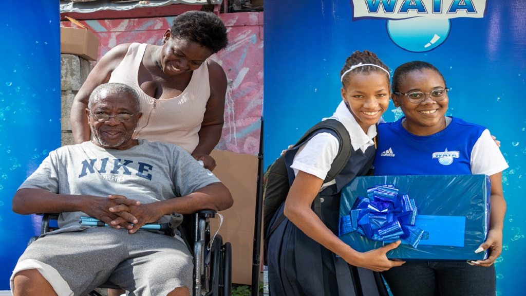 On Friday, January 10, 2019, two lucky recipients received their wishes of a laptop and a wheelchair from Wata brand representatives who travelled to separate locations in Whitehall, St Thomas and Denham Town in Kingston.