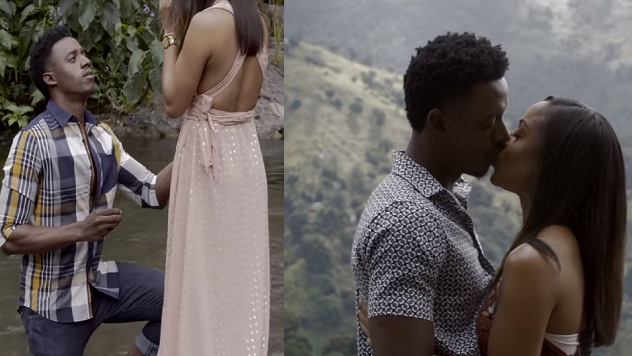 Romain Virgo popped the question to longtime girlfriend Elizabeth... and she said 'Yes!'