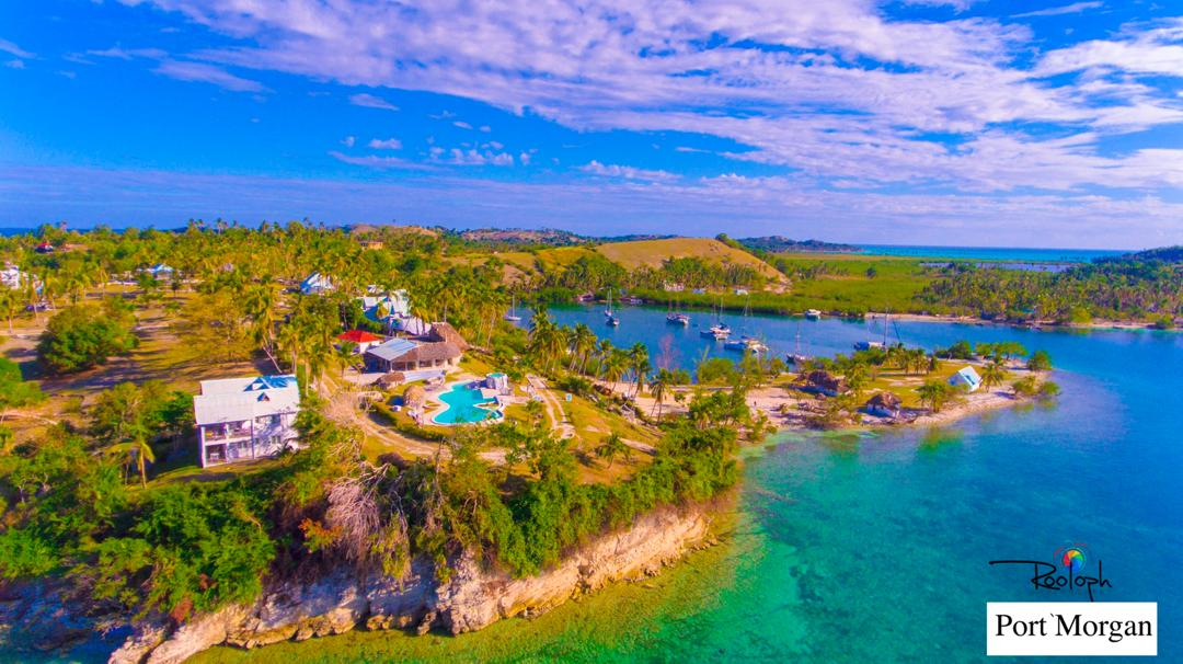 Vue aérienne partielle de l'Île-à-Vache. Crédit photo: Rooloph René