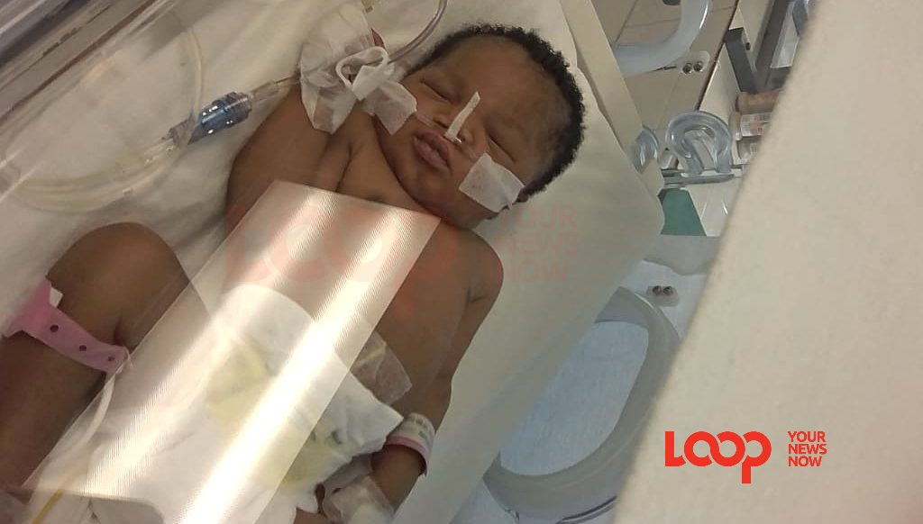 Baby Mikhailah in NICU