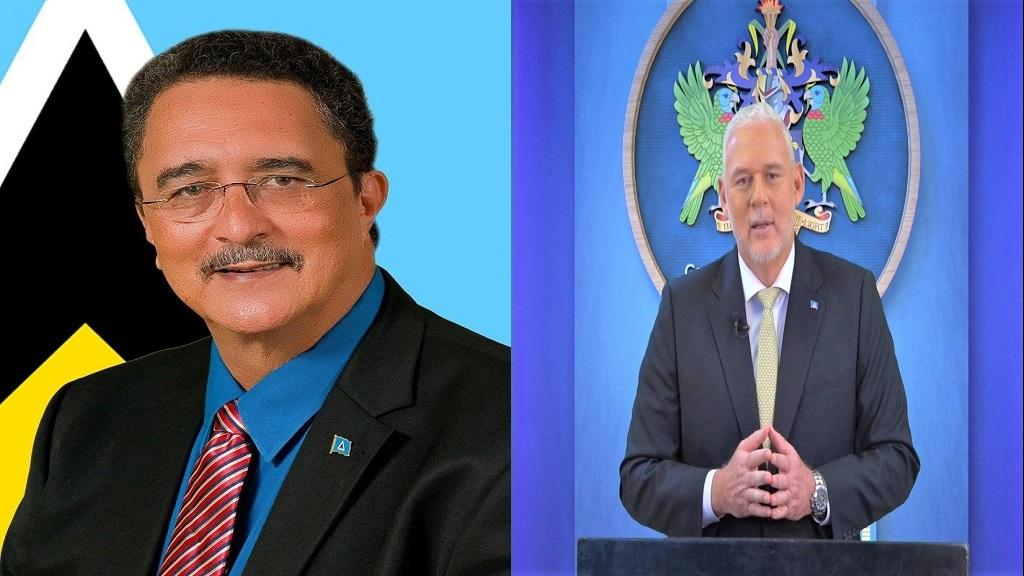 Former Prime Minister Dr Kenny Anthony (Left), Current Prime Minister Allen Chastanet (Right)